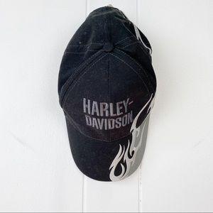 Harley Davidson•Black Embroidered baseball hat